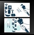 plumber business card for repair vector image vector image