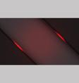 red hexagon mesh pattern light slash on grey vector image vector image