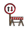 road sign icon vector image vector image