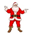 Santa claus in christmas suit vector image vector image