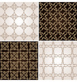 seamless vintage background wallpaper set vector image vector image