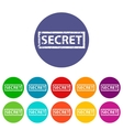 secret flat icon vector image vector image