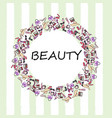 set of makeup products female beauty accessories vector image vector image