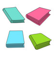 set sketch books vector image vector image