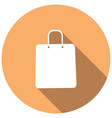 shopping bags on white circle with a long shadow vector image vector image