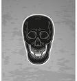 skull with vampire teeth vector image vector image