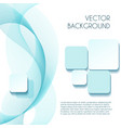 Smoky wave abstract background for brochure vector image