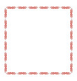 square frame with holly berry branch border fo vector image vector image