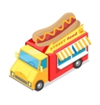 Street Fast Food Isometric vector image vector image