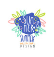 summer logo template original design colorful vector image vector image