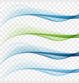 swoosh wave lines layout with abstract fresh vector image
