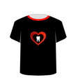 T Shirt Template- Sweet tooth vector image vector image