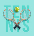 tennis club racket cross ball game competition vector image vector image