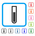 test tube framed icon vector image vector image