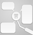 Thoughts tooth vector image vector image