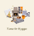 time to hygge cozy home vector image