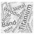 titanium wedding band Word Cloud Concept vector image vector image