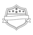 united states america emblematic shield vector image vector image