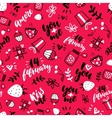 Valentine s Day seamless pattern Isolated vector image vector image