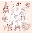 Wedding Sketch Set vector image vector image