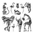 wild animals stylized animals vector image