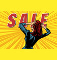 woman back sale vector image
