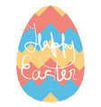 abstract ornament on easter egg symbol of spring vector image
