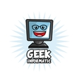 Geek design identity concept vector image