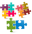Puzzle - Jigsaw Pieces on White Background vector image