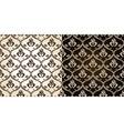 seamless vintage backgrounds black brown baroque p vector image