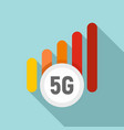 5g mobile icon flat style vector image vector image