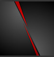 Abstract dark red black corporate tech background vector image vector image