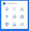 alarm icons vector image vector image