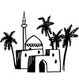 Arabic house vector image vector image
