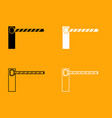 barrier black and white set icon vector image vector image