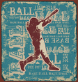 base ball sport vector image vector image