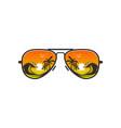 beach glasses logo design with beach views vector image vector image