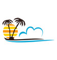 beach logo design template vector image vector image