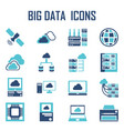big data icons vector image vector image