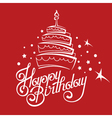 birthday card design vector image vector image