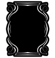 black frame with elegant border vector image vector image