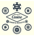 Casino emblems set vector image vector image