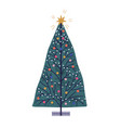 christmas tree hand drawn new vector image vector image