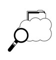 cloud computing storage folder file searching vector image vector image