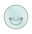 color crayon silhouette happy face male emoticon vector image vector image