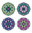 colorful mandala set vector image vector image