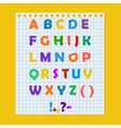 Complete colorful paper alphabet vector image vector image