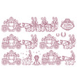 cute cinderella carriage vector image