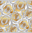 decorative gold rose motif vector image vector image
