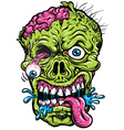 Detailed zombie head vector